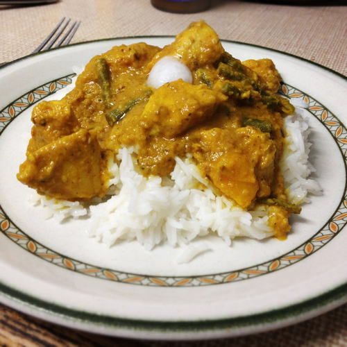 chicken korma, Indian cuisine, Isaacs