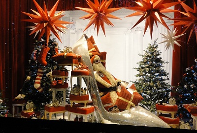 Never Mind the Christmas Stockings, Look at that Shoe: One of Selfridge's Windows