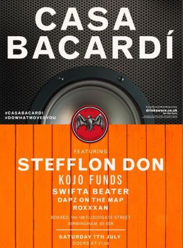 Stefflon Don, Boxxed, Digbeth, Bacardi, Do What Moves You
