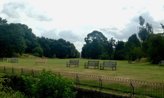 View into Kew Gardens