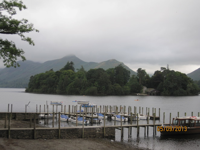 Hills and water at Derwentwater