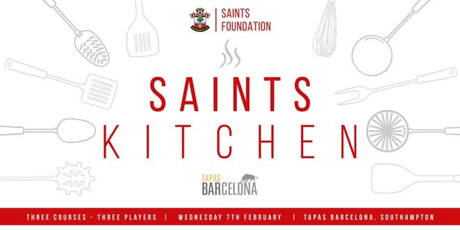 saints kitchen, saints foundation, southampton football club, tapas barcelona, charity dinner, dinner fundraiser, southampton charity