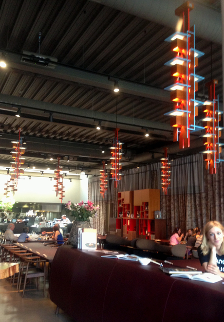 sticks n sushi, sushi,japanese,japan,decor,restaurant,colours,lights