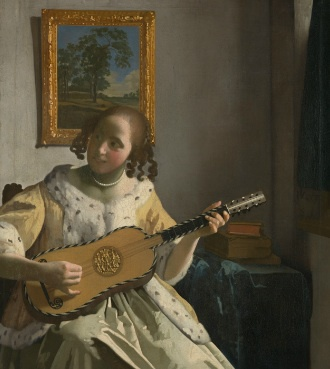 vermeer and Music, guitar player, The Art of Love and Leisure, national gallery, hendrick ter brugghen