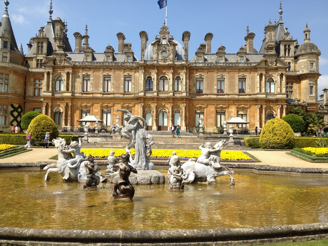 Waddesdon Manor, National Trust, formal gardens