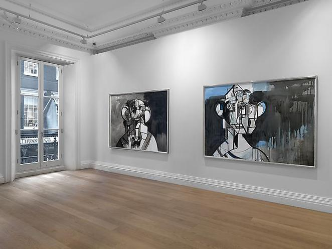 george condo, ink drawings, skarstedt gallery