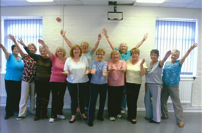 Ladies of the Dancercise Group