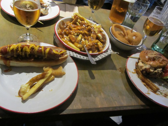 poutine canadian edinburgh american hot dog burger chicken