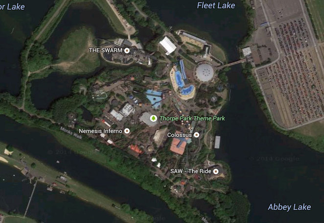 Thorpe Park Google Earth View
