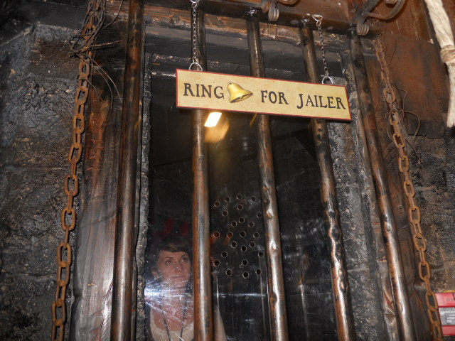 clink prison museum, jailer, ticket booth
