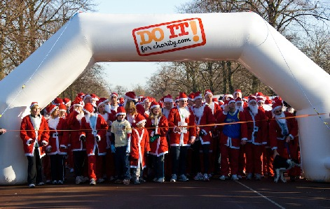 Do it for charity, santa run