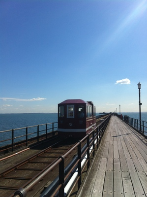 southend pier, pier, pleasure pier, longest pier, southend-on-sea pier, longest railway pier, pier railway, pier train, southend train