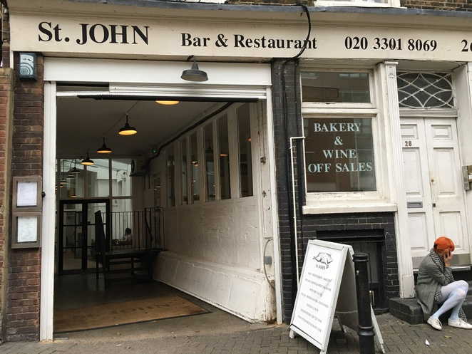St John Restaurant, St John, St John Smithfield, game restaurant, London restaurant, nose to tail eating, St John Bread and Wine, St John Bar and Restaurant, game food, Clerkenwell