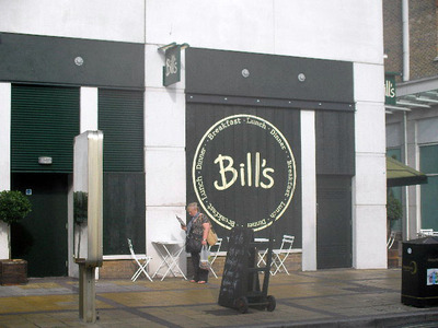 Bill's restaurant, wimbledon