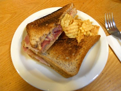 Gammon, cheese & onion toastie