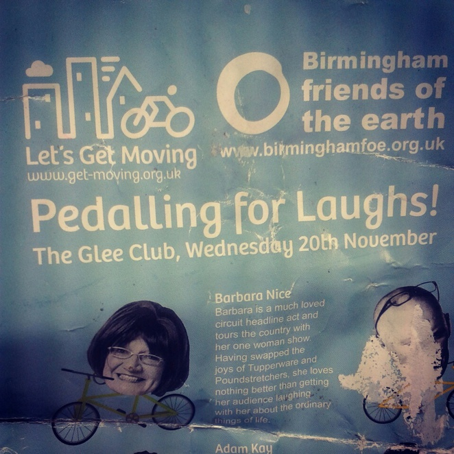 Glee Club, comedy night, Pedalling for Laughs, humour, Let's Get Moving
