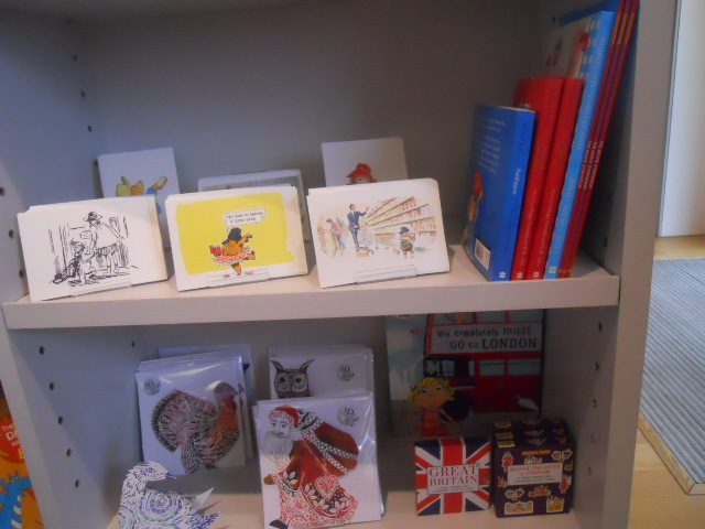 house of illustration, king's cross, gift shop, paddington bear, postcards