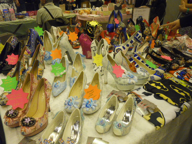 london film and comic convention, disney shoes
