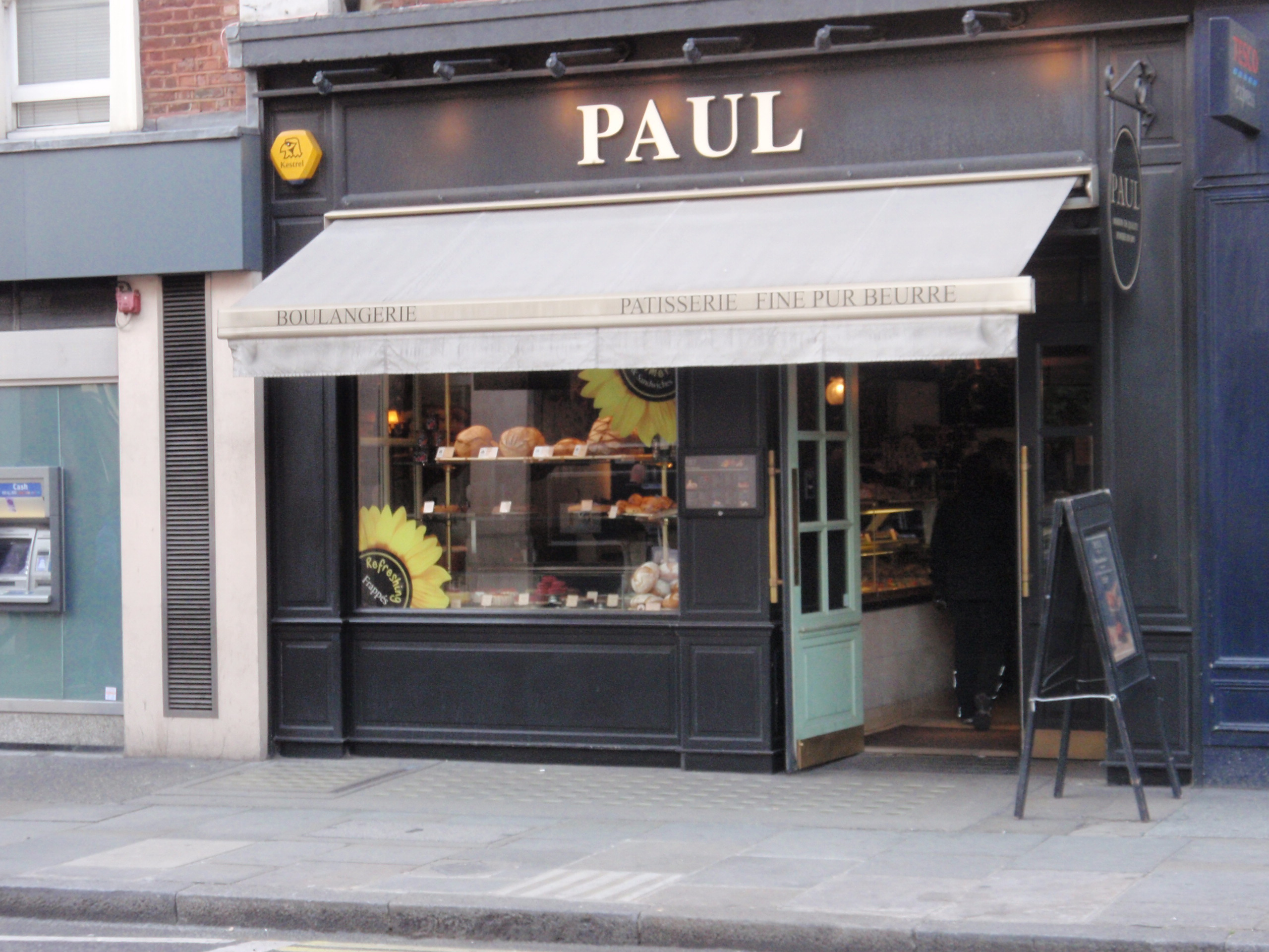 Paul 39 s uk awning and exterior colour project harle for Exterior design for shops