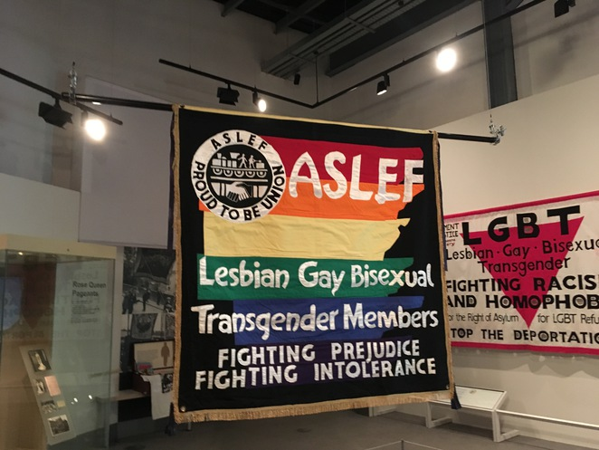 People's History Museum, Manchester, families, gay rights, protest, never going underground, rain, museum