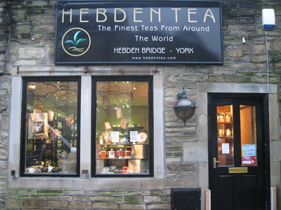 Shopfront, Hebden Tea, Hebden Bridge, Yorkshire