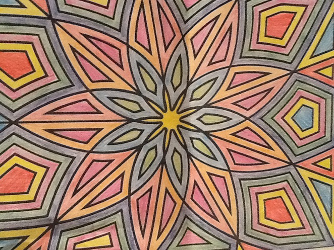 Colour craft mandala free holiday fun activity kids