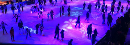 ice skating, westfield shopping centre