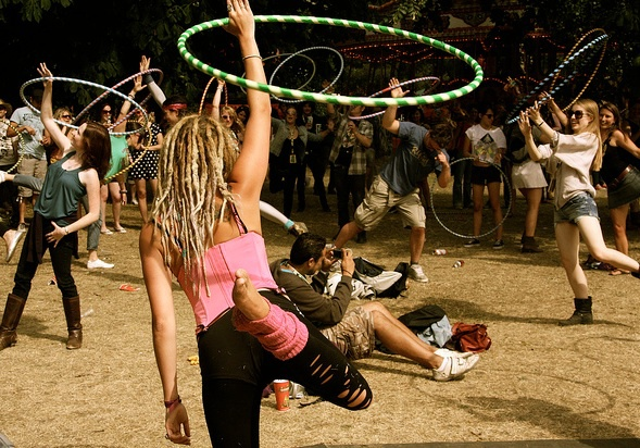 lovebox festival, hula hoop