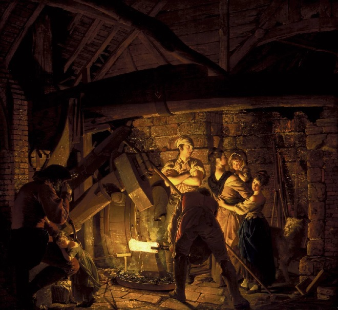 Joseph Wright of Derby's An Iron Forge at Tate Britain