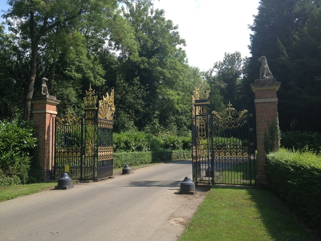 Waddesdon Manor, gates, National Trust