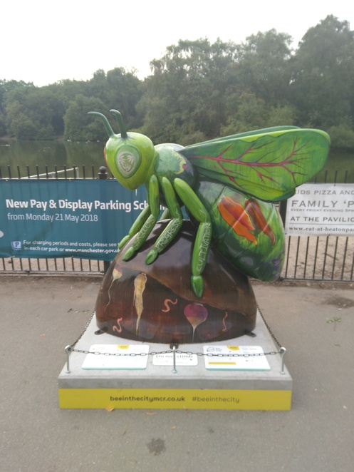 Bee in the city, art, Heaton Park, walking, get fit, outdoors, exhibition, sculptures, wild in art, bees, Manchester, city, trail, map