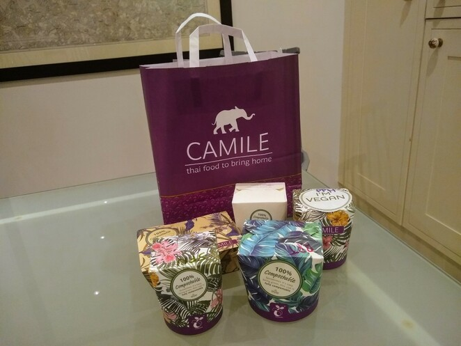 Camile Thai takeaway packaging