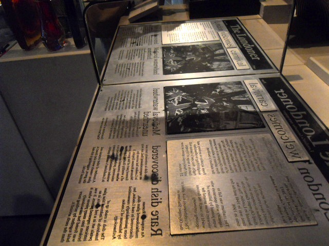 museum of london, world city, newspaper