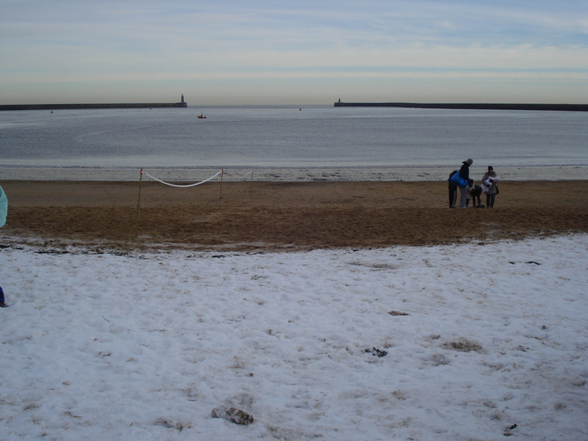 Snow Covered Beach at Little Haven South Shields