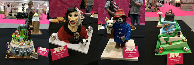 cake & bake show, london, excel, cake competition, 101 dalmations, paddington bear, the jungle book, cruella devil