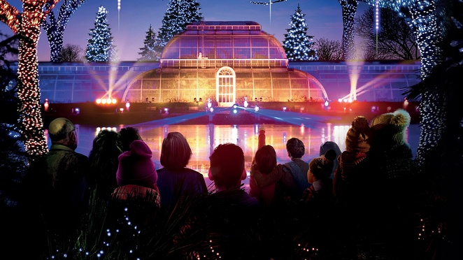Christmas at Kew Gardens, London