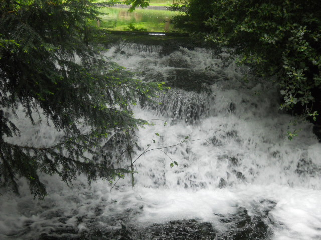 grove park, waterfall
