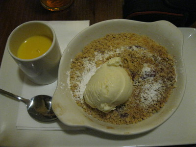 Loganberry and Apple Crumble, Grange Farm, Gastropub, Leicester