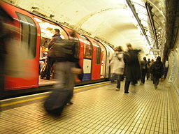 London; underground, the tube, travellers