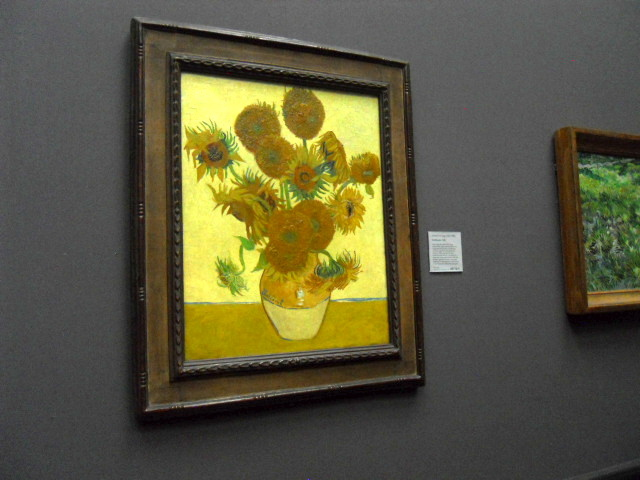 national gallery, van gogh, sunflowers