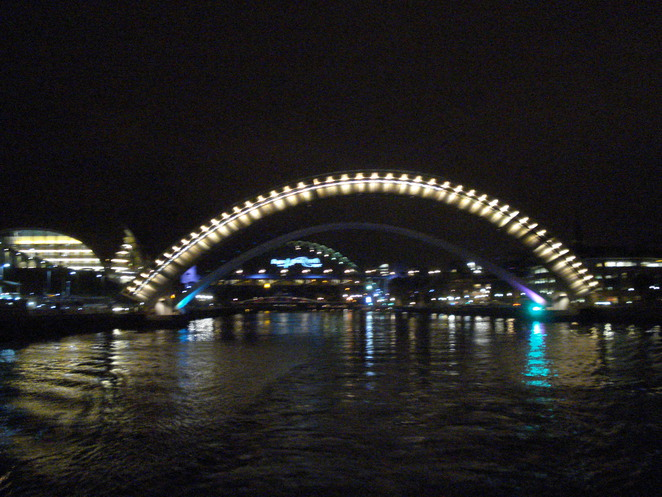 Reflections of the Tyne at Night