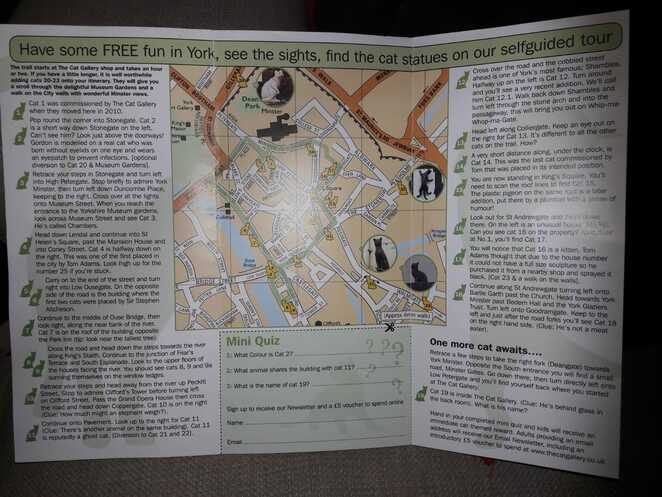 York, Free, Walk, Cats, Trail, Fun, Families, Children, map