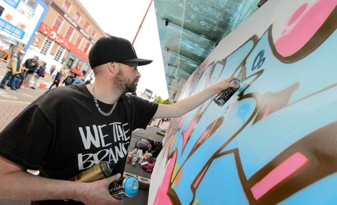 B Side Hip Hop Festival, graffiti jam, Southside, Birmingham Hippodrome, free dance events