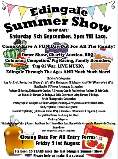Edingale Summer Show, Edingale Village Hall