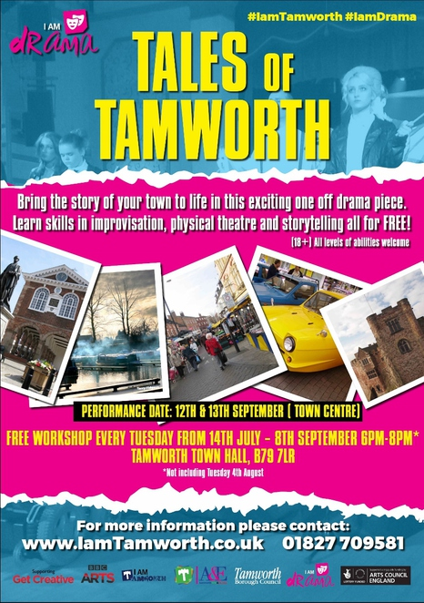 Tales of Tamworth, Tamworth Town Hall, River Anker, River Tame, Tamworth Repertory Company
