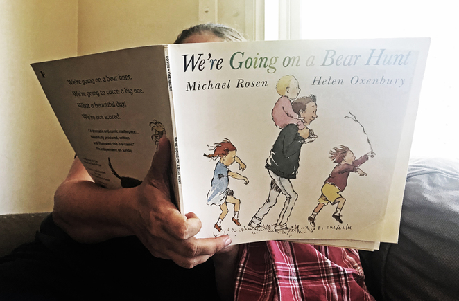 were going on a bear hunt, story time, libraries, overton library, storytelling, school holidays