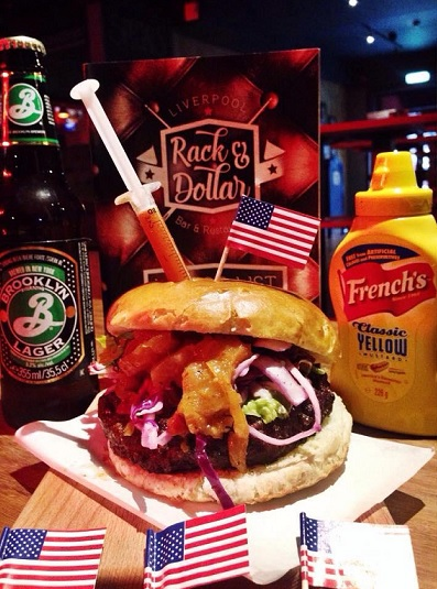 American style burger fries USA theme liverpool food bar grill