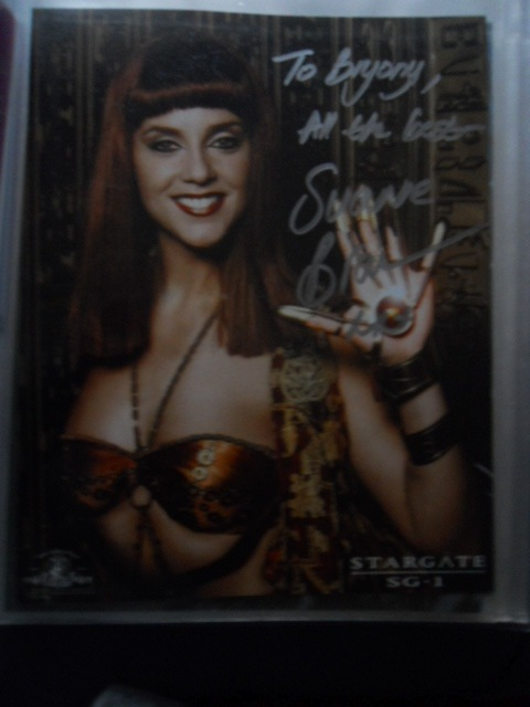 london film and comic convention, winter, kennsington olympia, olympia grand hall, lfcc, suanne braun, stagate, sg-1, hathor, autograph