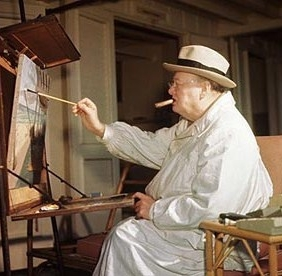 painting, Churchill