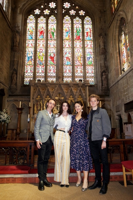 St Editha's Church, Tamworth, The Last Kingdom, David Dawson, Millie Brady, Eliza Butterworthm Timothy Innes
